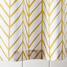 Mustard Feather Shower Curtain