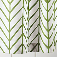 Clover Feather Shower Curtain