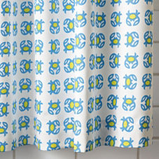 Crab Shower Curtain - Lime