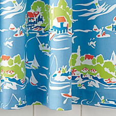 Skylake Toile Shower Curtain – Oar Blue