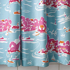 Skylake Toile Shower Curtain – Aqua