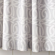 Highland Knot Shower Curtain – Dove Grey