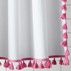 Tassel Shower Curtain – Juice