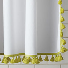 Tassel Shower Curtain – Citrine