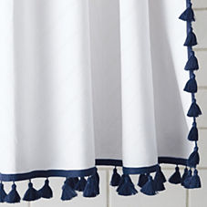 Tassel Shower Curtain – Navy
