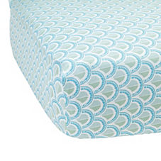 Celadon Scale Crib Sheet