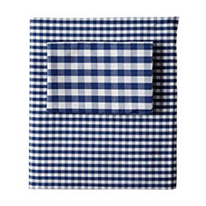 Gingham Sheet Set - Navy