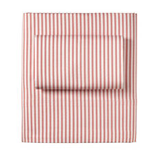 Ticking Stripe Sheet Set – Barn Red