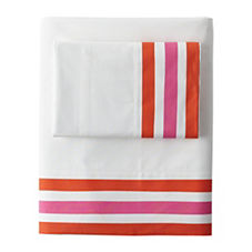 Beach Stripe Sheet Set – Pink Taffy/Orange