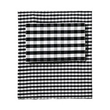 Gingham Sheet Set – Black