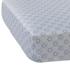Mosaic Crib Sheet – Cornflower Blue