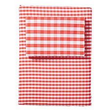Gingham Sheet Set – Coral