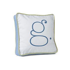 Sprout/Indigo Letter Pillow