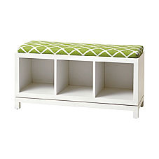 Campaign Storage Bench - White