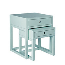 Webster Nesting Tables – Aqua (Set of 2)