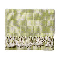Brahams Mount Herringbone Throw – Apple