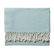 Mist Herringbone Throw