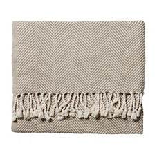 Brahms Mount Herringbone Throw – Stone
