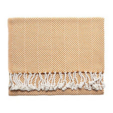 Ochre Herringbone Throw