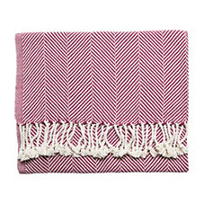Herringbone Throw – Plum