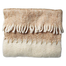 Caramel Mohair Whipstitch Throw