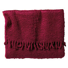Merlot Mohair Throw