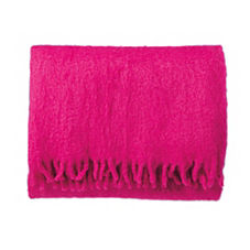 Magenta Mohair Throw