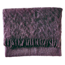 Mohair Throw – Eggplant