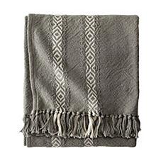 Diamond Stripe Throw
