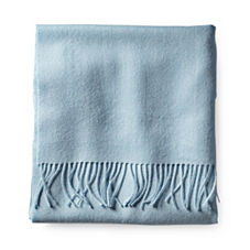 Alicia Adams Solid Alpaca Throw – Bay Blue