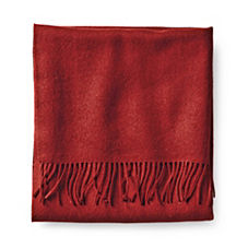 Alicia Adams Solid Alpaca Throw – Garnet