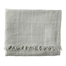 Linen Window Pane Throw – Mist