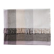 Plaid Throw – Charcoal/Dusty Lilac