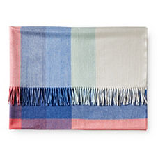 Plaid Throw – Marine/Coral