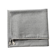 Braided Edge Throw – Heathered Grey