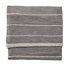 Heathered Knit Throw – Grey