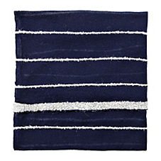 Heathered Knit Throw – Navy