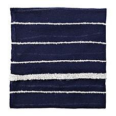 Heathered Knit Throw – Navy