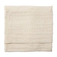 Heathered Knit Throw – Ivory