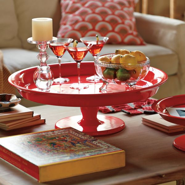 Flame Pedestal Trays - Serena & Lily