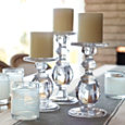 Oslo Glass Candlesticks - Set of Three
