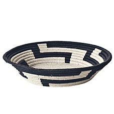 Black Woven Paper Bowl - Large