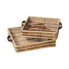 Natural Woven Trays – Set of 2