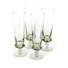 Swazi Glassware - Footed Pilsner, Set of 4