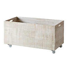 Rolling Storage Crates – Whitewashed (Extra Large)