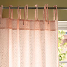 Swiss Dot Window Panel – Sheer Blush