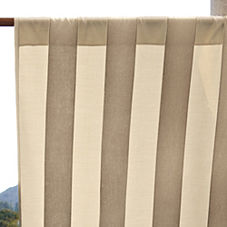Awning Stripe Outdoor Window Panel - Khaki/Natural