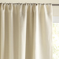 Chunky Linen Window Panel – Ivory