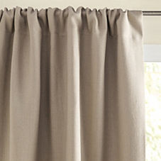 Chunky Linen Window Panel – Bark