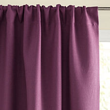 Chunky Linen Window Panel – Plum